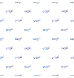 light airplane pattern vector image vector image