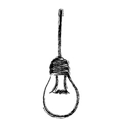 Light bulb hanging icon vector