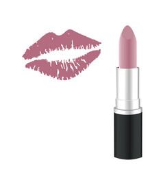 lipstick kiss vector image vector image