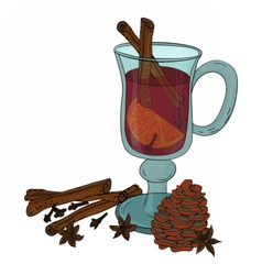 Mulled wine vecrot vector