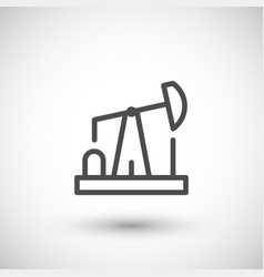 Oil pump line icon vector