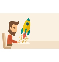 On-line startup vector image