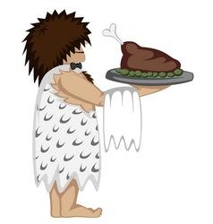 Paleo waiter vector
