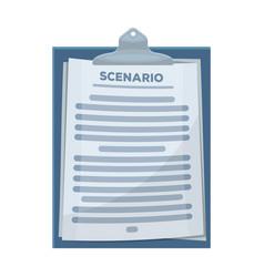 Scenariomaking movie single icon in cartoon style vector