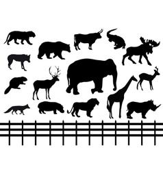 set wild animals - vector image