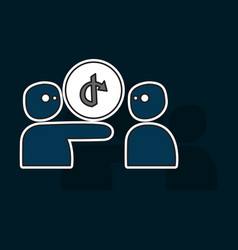 share icon in sticker design vector image vector image