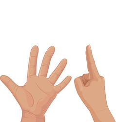 Six from fingers vector