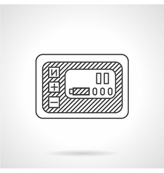Smart panel line icon vector