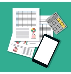 Spreadsheet icon design vector image