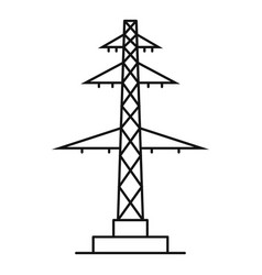 Telephone pole icon outline style vector