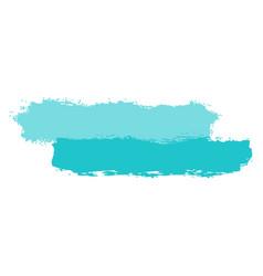 Two green tint brushstroke paint vector