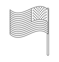 usa flag symbol vector image vector image