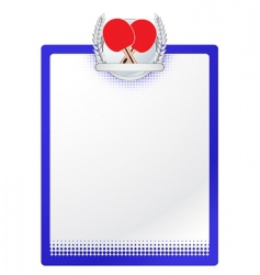vector table tennis template vector image vector image