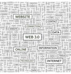 WEB3 0 vector image