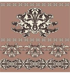 design swirling decorative floral elements vector image