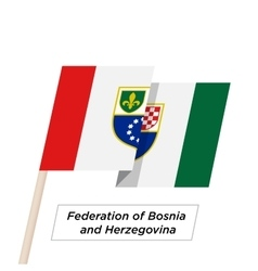 Federation bosnia and herzegovina ribbon waving vector