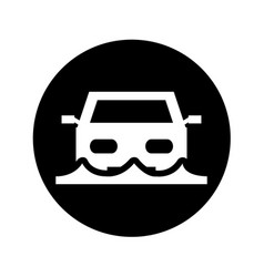 Car insurance isolated icon vector