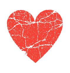 Grunge paer red heart transparent vector