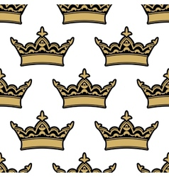 Royal heraldic seamless pattern vector