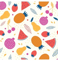 Colorful tasty fruit seamless pattern vector
