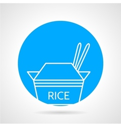 Rice pack round icon vector