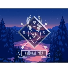 National park typography design on vector