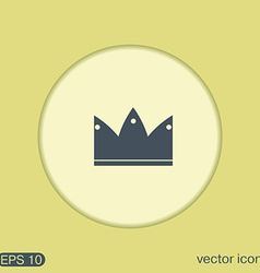 Crown icon vector