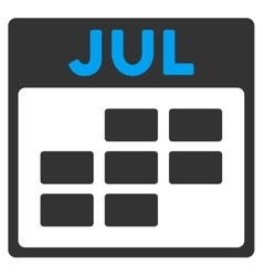 July flat icon vector