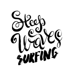 Steep waves surfing vector