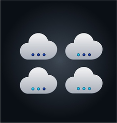 Cloud computing concept with buttons vector