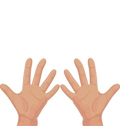 Ten from fingers vector image