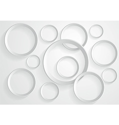 Abstract gray circle background vector image