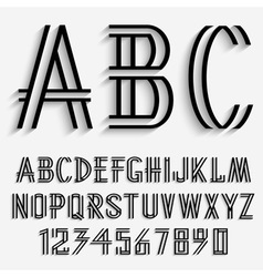 Black alphabet letters vector image vector image