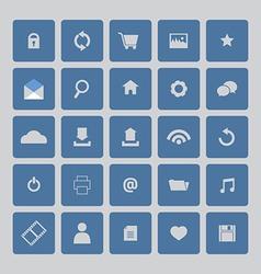 Blue Website Icons Set vector image