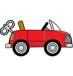 Cartoon toy wind up car vector