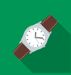 classic wrist watch icon in flat style isolated on vector image vector image