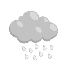 Cloud with rain icon black monochrome style vector image vector image