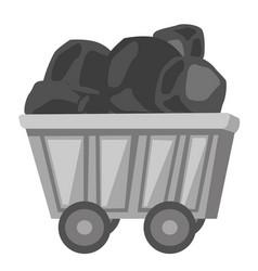 coal mine trolley cartoon vector image