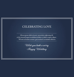 Collection stock of wedding simple style vector