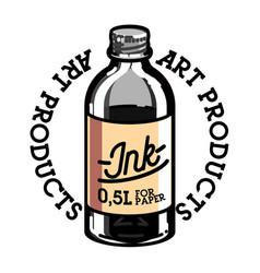 Color vintage art products shop emblem vector