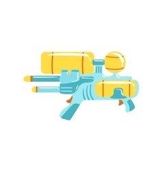 Colorful fantastic water gun flat bright vector