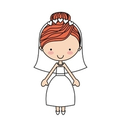 cute wife character isolated icon vector image