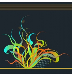 fire flower vector image vector image