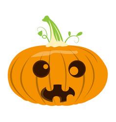 Isolated halloween jack-o-lantern vector