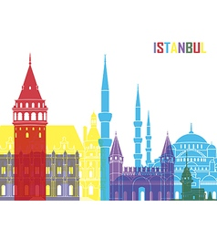 Istanbul skyline pop vector image vector image
