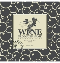 Labels for wine with grapes vector