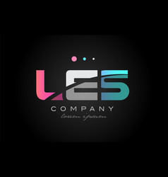 les l e s three letter logo icon design vector image vector image