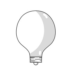 Line energy bulb to illuminate places vector