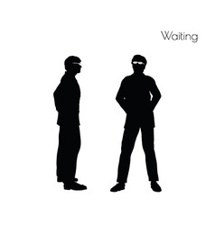 Man in waiting pose vector