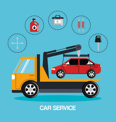 mechanic car service icons vector image